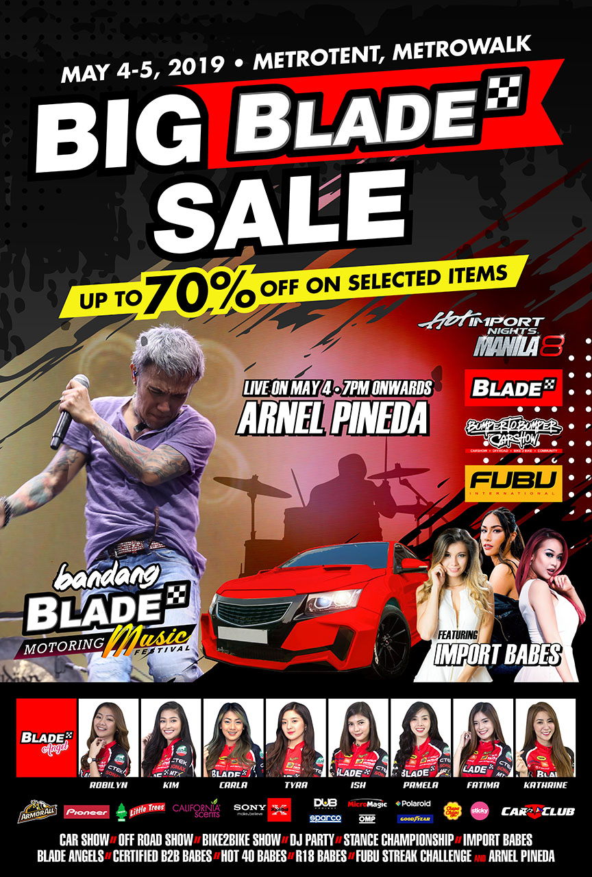 Bandang Blade To Feature Arnel Pineda As Well As Generous Discounts On Car Accessories