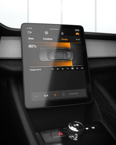 2020 Polestar 2 Android Automotive Interface