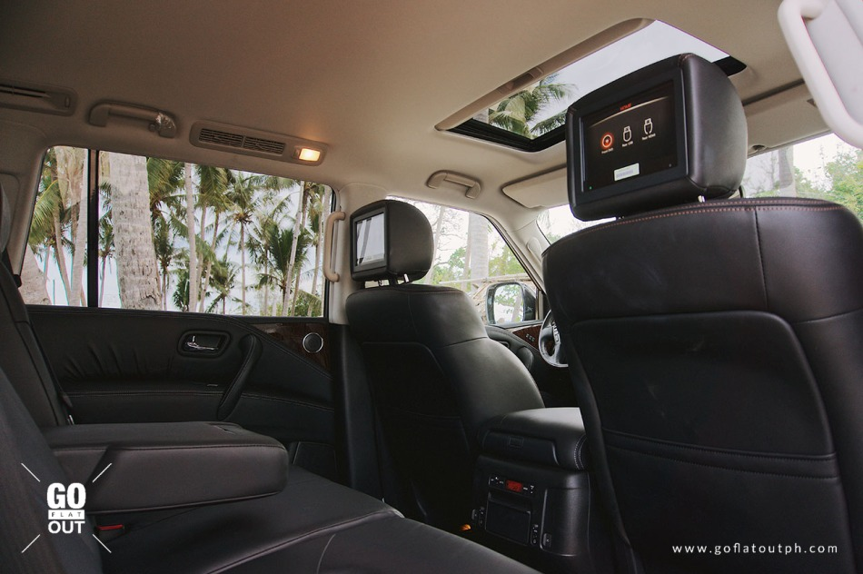 2019 Nissan Patrol Royale Rear Entertainment System