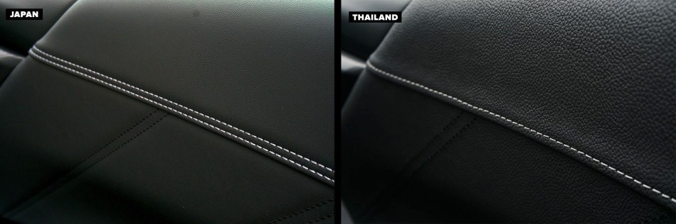 Door trims of of Thai-Made and Japan-Made Forester
